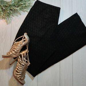 Venus Williams Wilson's leather bootleg suede pant